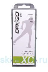 Парафин углеводородный SkiGo CH XC Glider Green -7/-20, 200 г