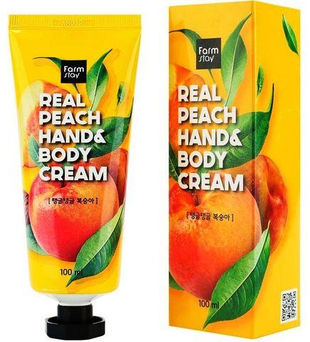 FarmStay Real Peach Hand & Body Cream крем для рук и тела с персиком