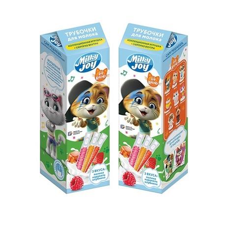 MILKY JOY 44 CATS Трубочки для молока  1кор*8бл*5шт, 18г.