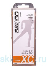 Парафин углеводородный SkiGo CH XC Glider Orange +1/-5, 200 г