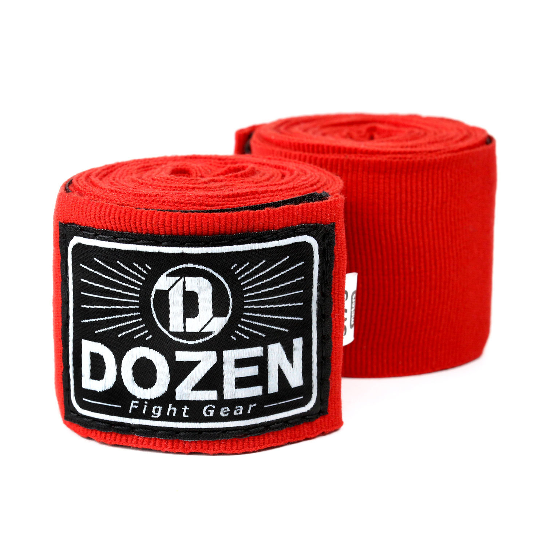 Бинты красные Dozen Monochrome Semi-elastic главный вид