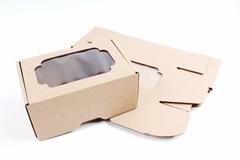 Коробка-трансформер с окном, цвет крафт, 13 * 8,5 * 6 см, 1 шт.