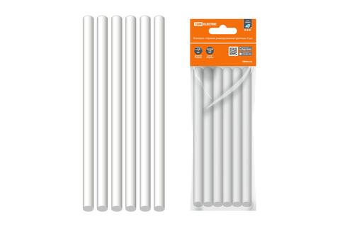 Клеевые стержни универсальные белые, 11 мм x 100 мм, 6 шт,