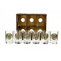 Набор коллекционных сувенирных рюмок «СССР» 6 шт, фото 7