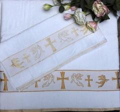 Полотенце Ангелок бел/золото