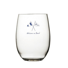 NON SLIP BEVERAGE GLASS, WELCOME ON BOARD