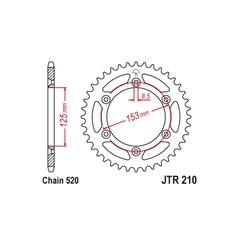 Звезда задняя (Ведомая) JT Sprockets JTR210.50 1-3559-50