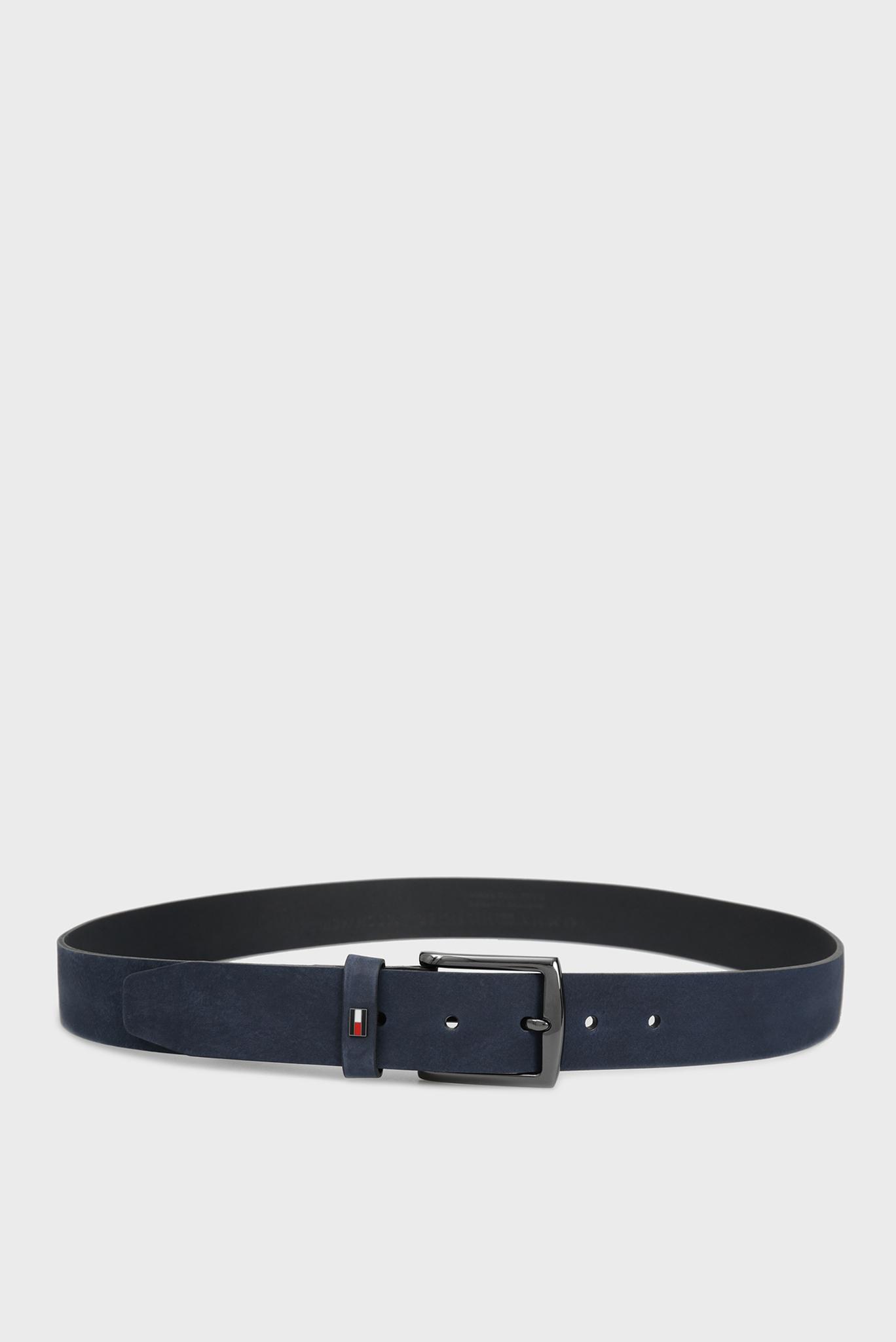 Мужской темно-синий кожаный ремень DENTON Tommy Hilfiger