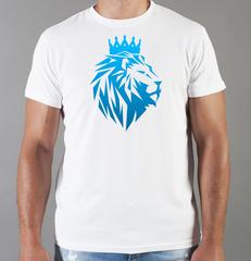 Футболка с принтом Лев (Lion) белая 0042