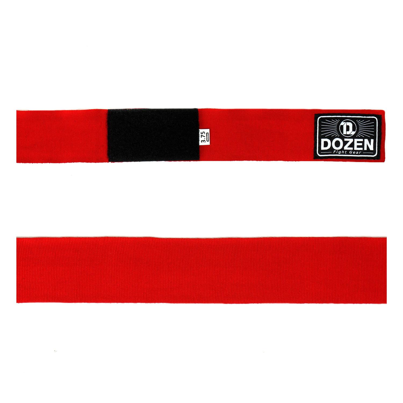 Бинты красные Dozen Monochrome Semi-elastic вид ленты