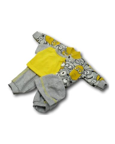 Костюм с курткой бомбером - Серый. Одежда для кукол, пупсов и мягких игрушек.