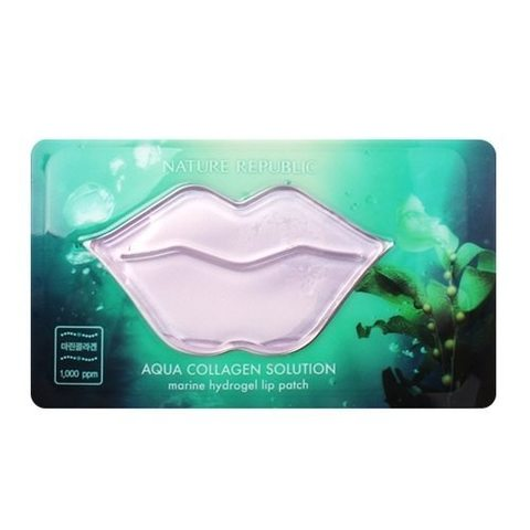 Nature Republic Aqua Collagen Solution Marine Hydrogel Lip Patch увлажняющий патч для губ с морским коллагеном