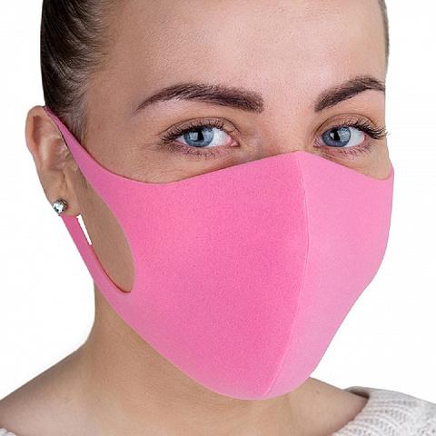 MN Маска с угольным фильтром х/б розовая