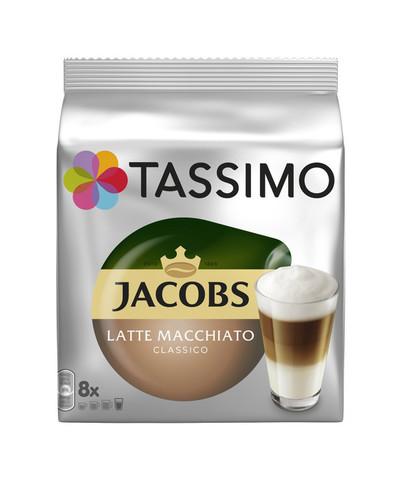 Кофе в капсулах Tassimo Jacobs Latte Macchiato Classico (8 капс.)