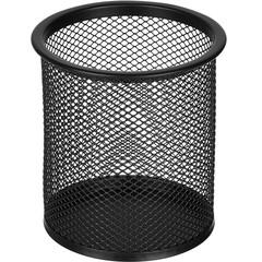 Подставка для письменных принадлежностей диаметр 89 мм высота 100 мм металлическая сетка черная