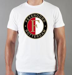 Футболка с принтом FC Feyenoord  (ФК Фейеноорд) белая 001