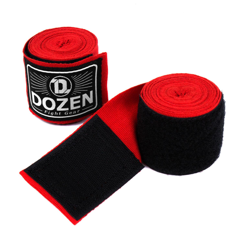 Бинты красные Dozen Monochrome Semi-elastic вид липучка