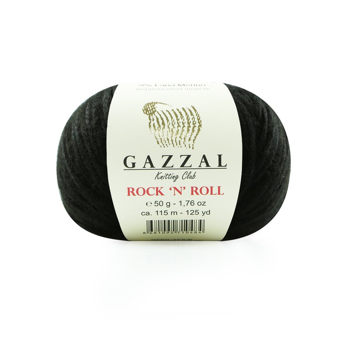 Пряжа Gazzal Rock n Roll 4215 черный