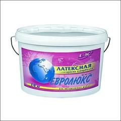 Краска латексная для интерьерных работ ЕВРОЛЮКС Е-3С на акриловой основе, матовая, влагостойкая (супербелый)