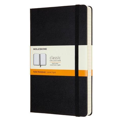 Блокнот Moleskine CLASSIC EXPENDED QP060EXP Large 130х210мм 400стр. линейка твердая обложка черный