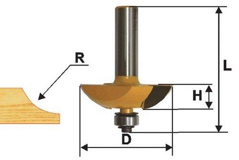Фреза фигирейная горизонтальная  двустворчатая 51 х 13 мм