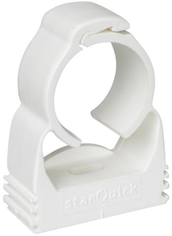 Walraven BIS starQuick хомут для труб 24-28 мм cамозащёлкивающийся белый (0855028)
