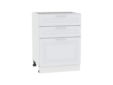 Шкаф нижний с 3-мя ящиками 600 Ницца Royal (Blanco)