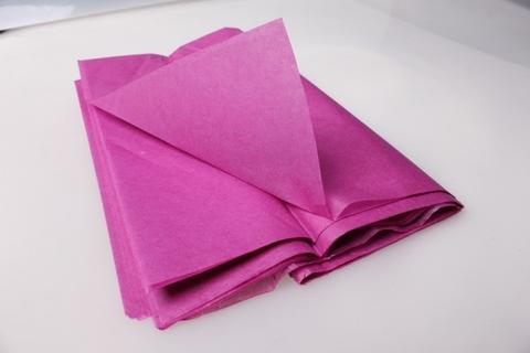 Бумага Тишью фуксия 50*65 см, 10 листов