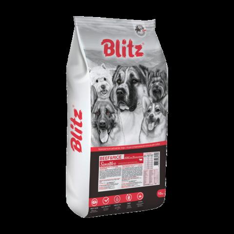 Blitz Adult Сухой корм для взрослых собак с Говядиной и Рисом