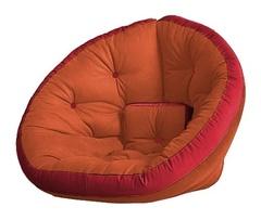 Кресло Farla Lounge Оранжевое с красным