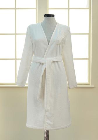 Махровый женский халат PANDORA KIMONO крем