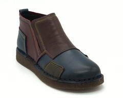 Кожаные осенние ботинки без замка мультиколор