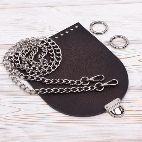 """Комплект для сумочки Орео """"Черное дерево"""" с цепочкой"""