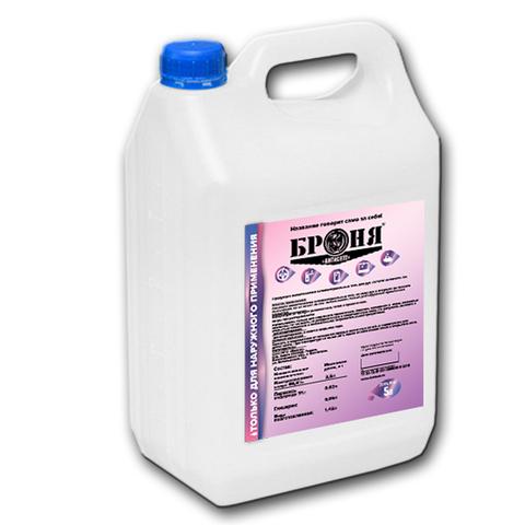 Дезинфицирующий состав Броня 5л (антисептик для поверхностей и рук, антибактериальное средство, раствор, спрей, гель, санитайзер)