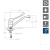 Смеситель для раковины с поворотным изливом и медицинской ручкой AQUANOVA FLY H5599MED - фото №2