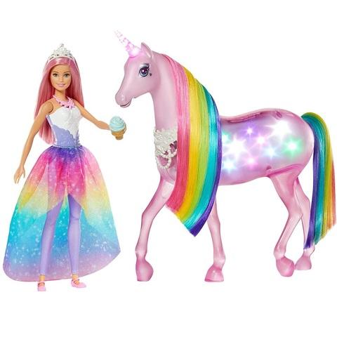 Барби Дримтопия Принцесса с Магическим Светящимся Единорогом
