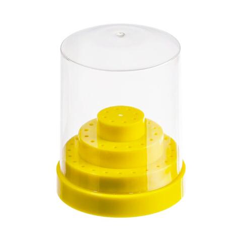 Подставка для фрез круглая, желтая