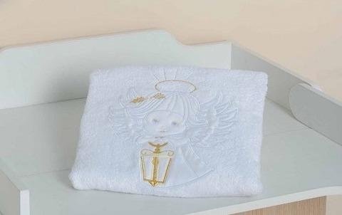 Махровое полотенце для крещения с вышивкой