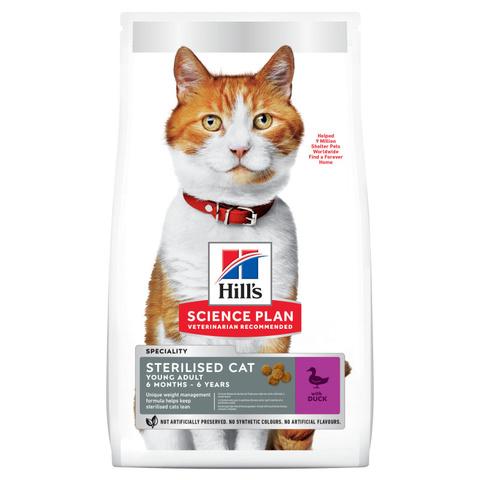 Hill's сухой корм для стерилизованных кошек до 7 лет (утка) 300г