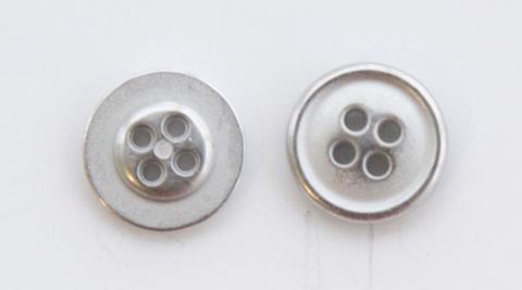 Пуговица металлическая, двусторонняя, цвет светлый металл, 12 мм
