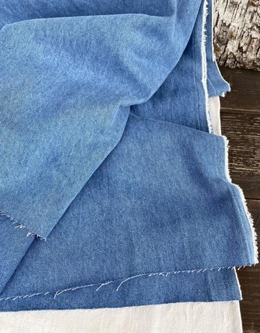 Джинса вареная, хлопок 100%, цвет Голубая варенка