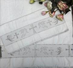 Полотенце Ангелок бел/серебро