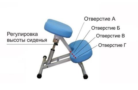 KM01L Коленный стул с газ-лифтом SmartStool
