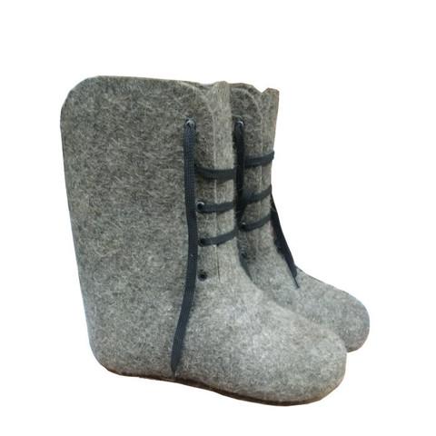 Ботинки валяные, серые