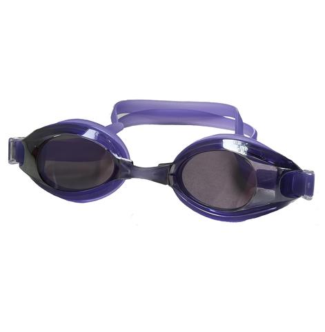 Очки для плавания Diapolo фиолетовые с прозрачными линзами