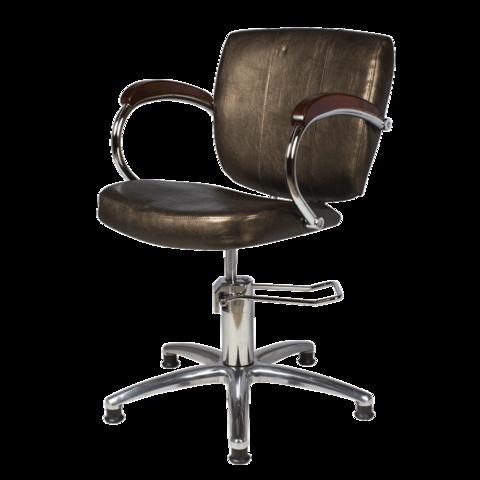 Парикмахерское кресло Грация Люкс гидравлика хром, пятилучье хром на подпятниках