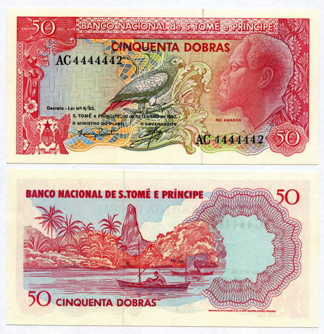 Банкнота Сан-Томе и Принсипи 50 добр 1982 (AC 4444442) UNC
