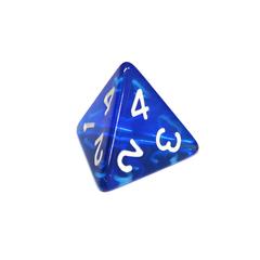 Куб D4 прозрачный: Синий