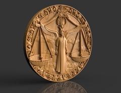 Силиконовый молд № медальон  Весы