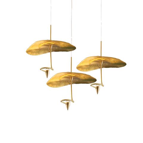Подвесной светильник копия Gold Moon by Catellani & Smith (3 плафона)